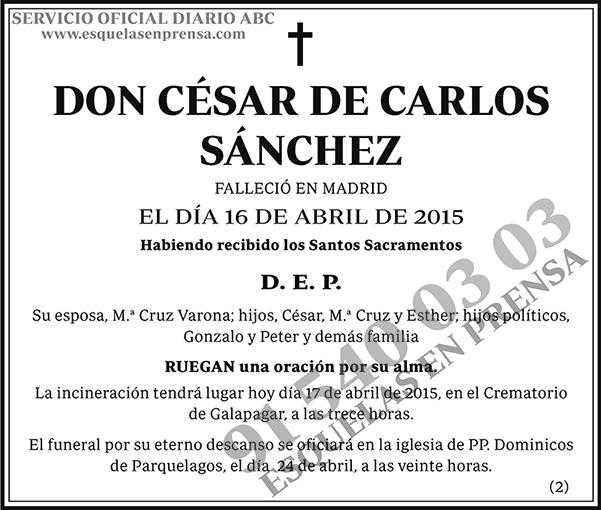 César de Carlos Sánchez